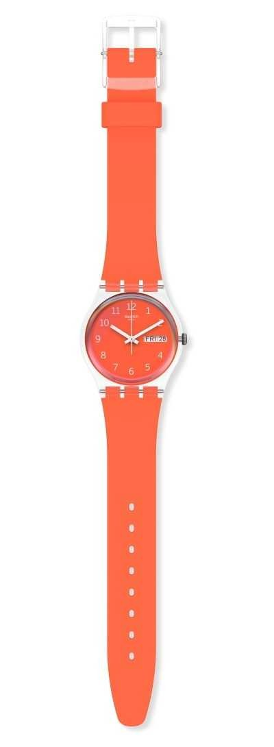 Swatch RED AWAY Unisex day date watch GE722