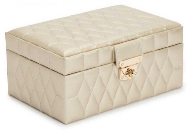 WOLF Caroline Champagne Small Jewellery Box 329846