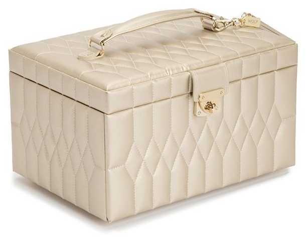 WOLF Caroline Champagne Medium Jewellery Box 329746