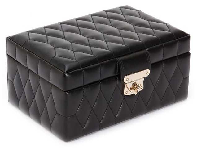 WOLF Caroline Black Small Jewellery Box 329871