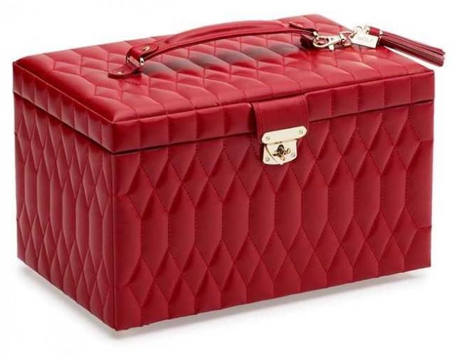 WOLF Caroline Red Large Jewellery Box 329672