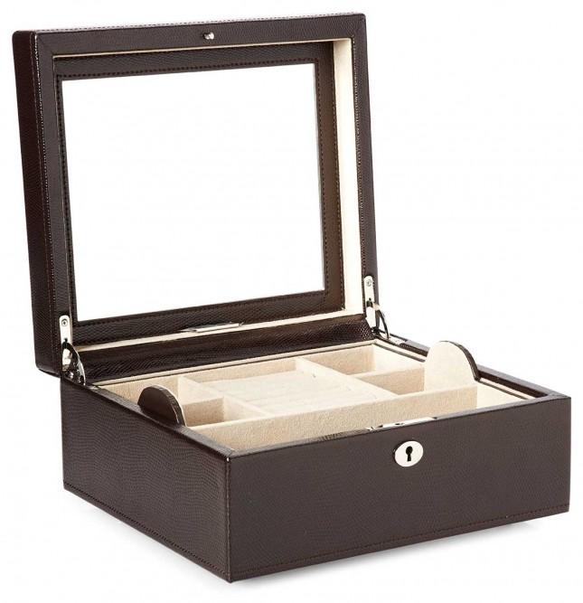 WOLF London Cocoa Square Jewellery Box 315206