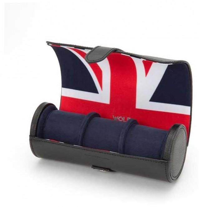 WOLF Navigator British Flag Triple Watch Roll 462504