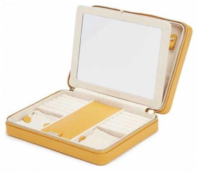 WOLF Maria Mustard Large Zip Case 766193
