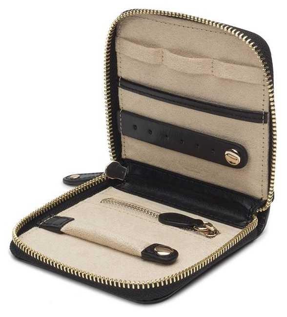 WOLF Marrakesh Black Travel Jewellery Case 308502