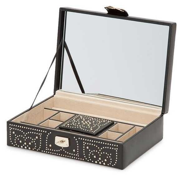 WOLF Marrakesh Black Flat Jewellery Box 308302