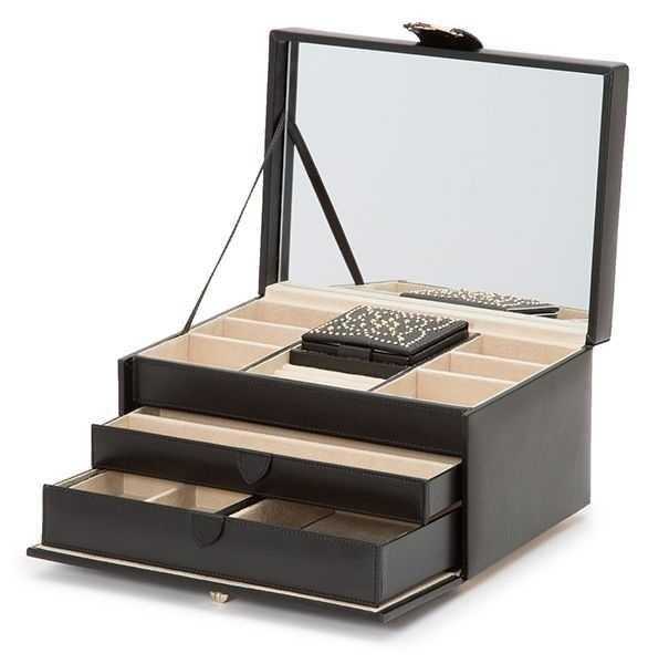 WOLF Marrakesh Black Medium Jewellery Box 308102