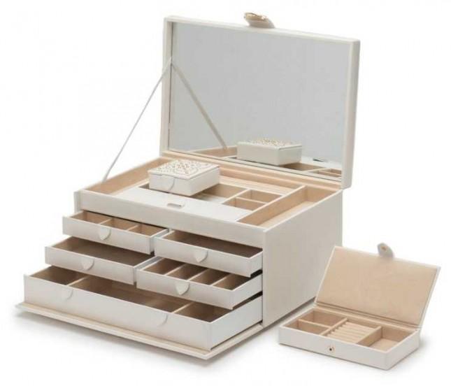 WOLF Marrakesh Cream Large Jewellery Box 308253