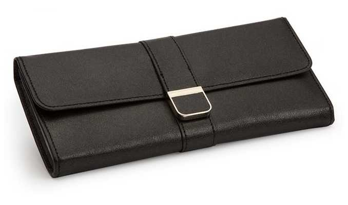 WOLF Palermo Anthracite Jewellery Roll 213402