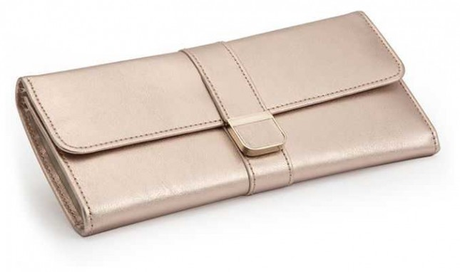 WOLF Palermo Rose Gold Jewellery Roll 213416