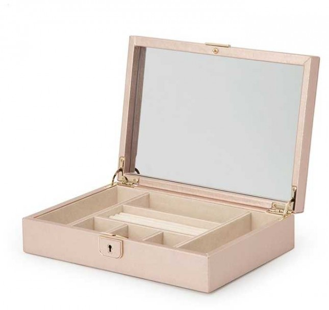 WOLF Palermo Rose Gold Medium Flat Jewellery Box 213216