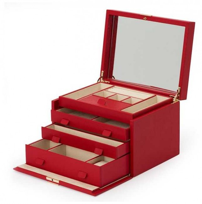 WOLF Palermo Red Large Jewellery Box 213072