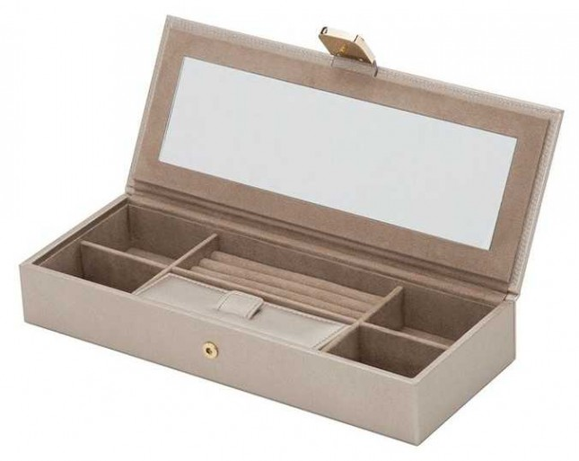 WOLF Palermo Pewter Safe Deposit Box 213578