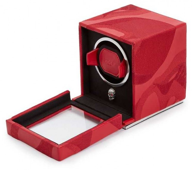 WOLF Memento Mori Red Cub Watch Winder With Cover 493172