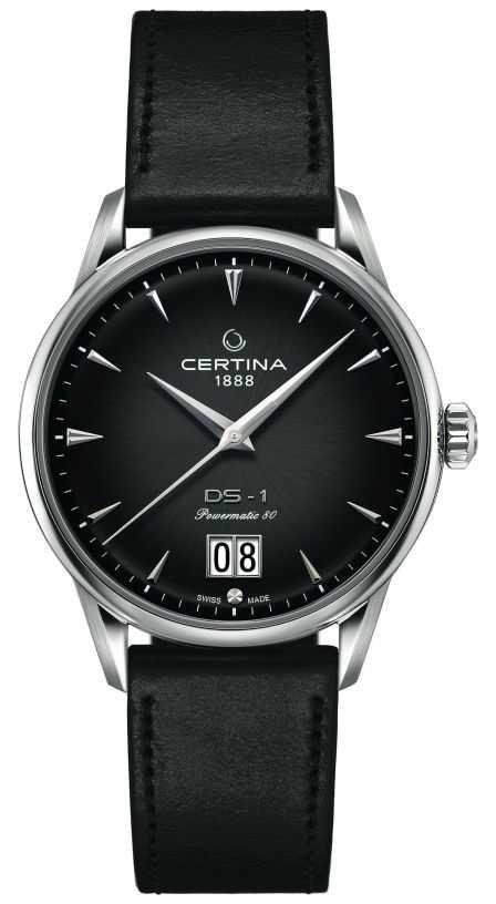 Certina DS-1 Big Date   Powermatic 80   Black Leather Strap C0294261605100