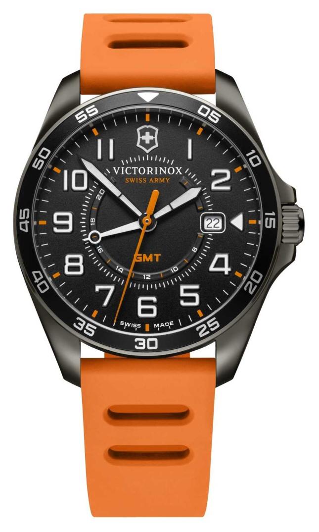 Victorinox Swiss Army FieldForce Sport GMT | 42mm | Orange Rubber Strap | 241897