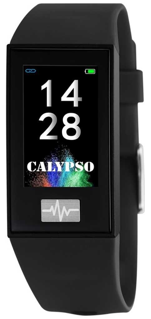 Calypso Unisex | Smartime | Black Silicone Strap + Free Strap K8500/6