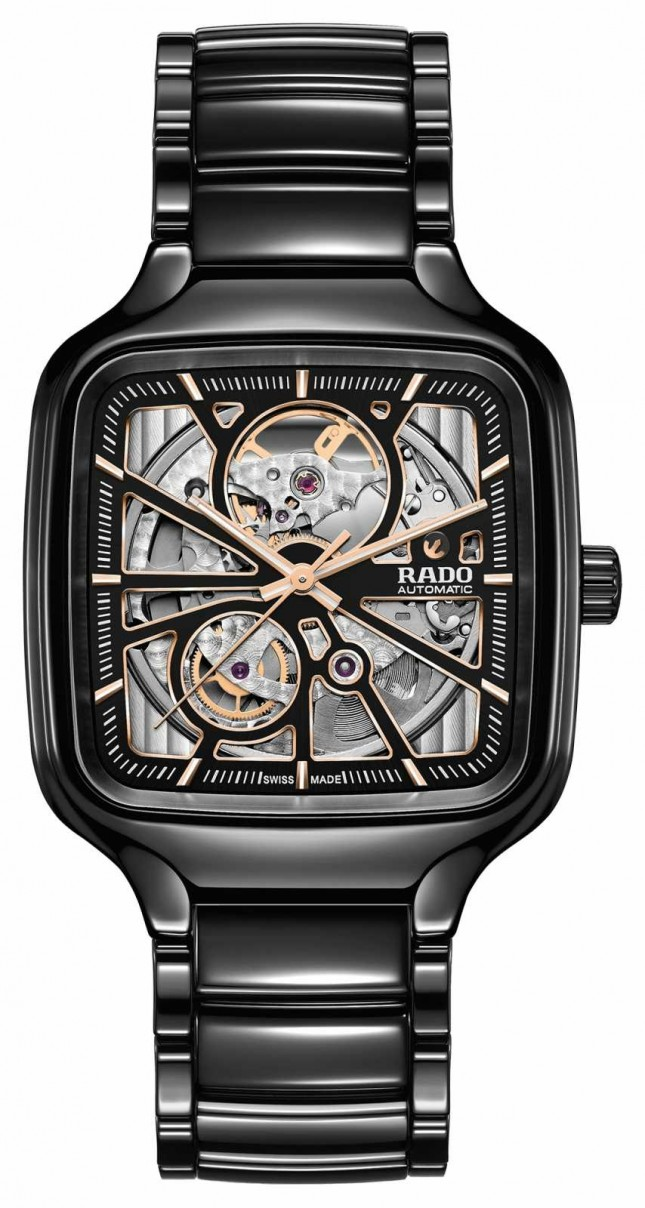 RADO True Square Skeleton Automatic | Ceramic Bracelet R27086162