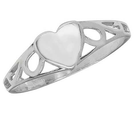 Treasure House Sterling Silver Babies Heart Ring Size D G7399/D