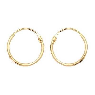 Treasure House 9ct Gold 9mm Hinged Sleeper Earrings ES315