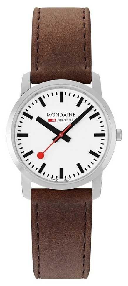 Mondaine Simply Elegant 36 Mm   Brown Leather Strap A400.30351.11SBG