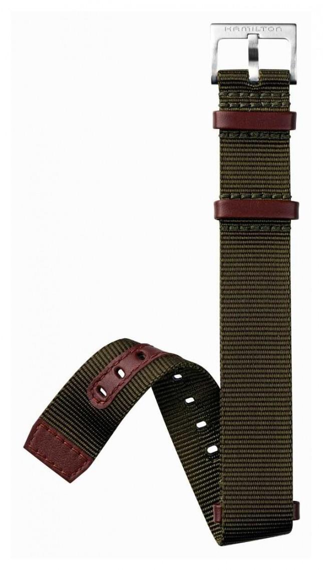 Hamilton Green Brown NATO 20mm – Khaki Field Strap Only H600694102