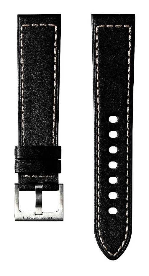 Hamilton Black Cow Leather 20mm – Khaki Field Strap Only H600704110