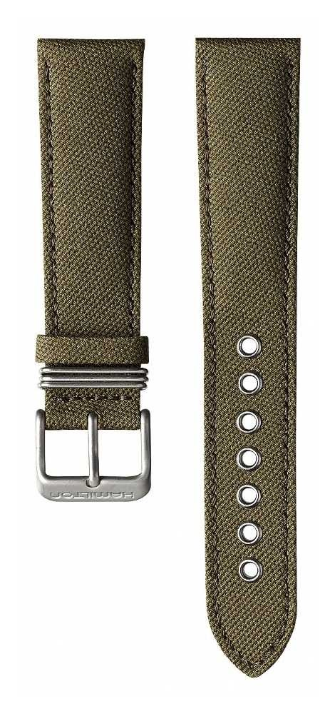 Hamilton Green Calf Leather Canvas 20mm – Khaki Field Strap Only H600684102