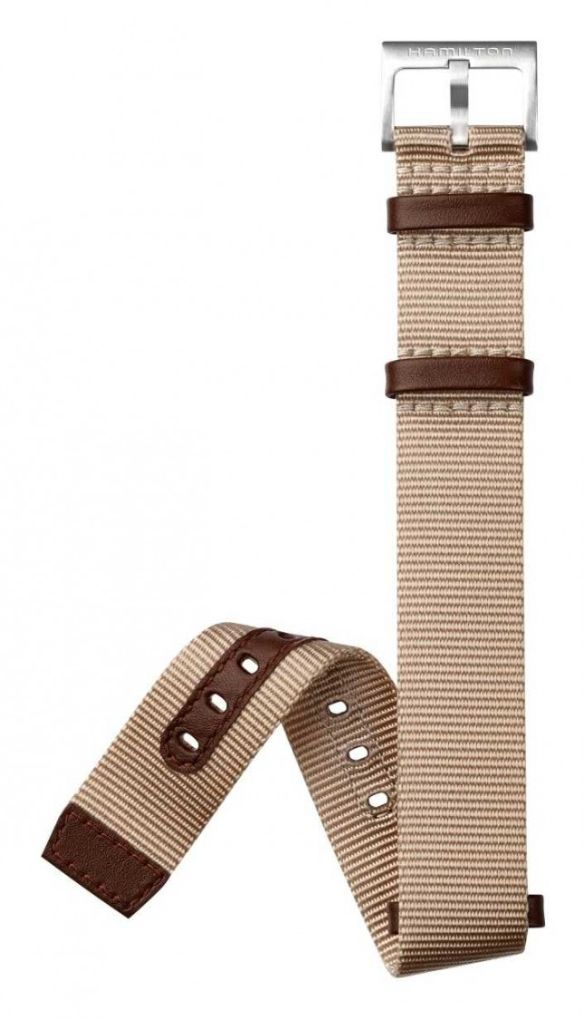 Hamilton Beige Brown NATO 20mm – Khaki Field Strap Only H600694103