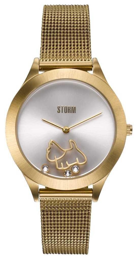 STORM Cassie Gold | Gold Mesh Bracelet | Silver Dial 47471/GD