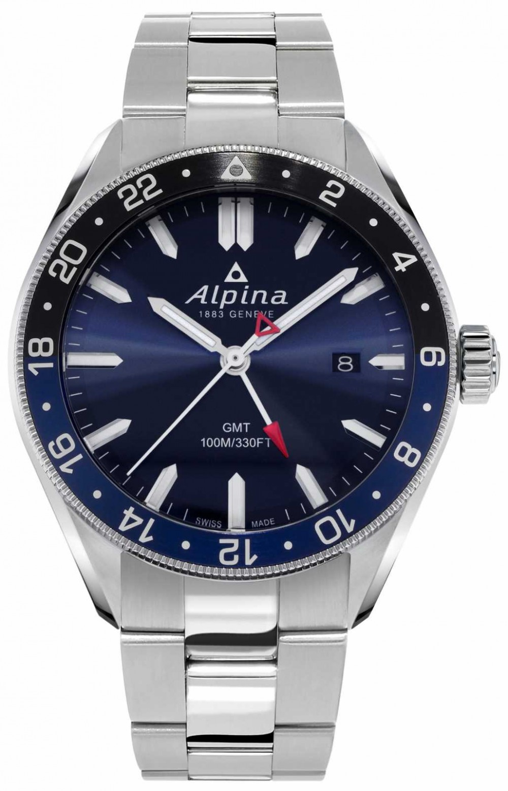 Alpina Alpiner Quartz GMT | Blue Dial | Stainless Steel Bracelet AL-247NB4E6B