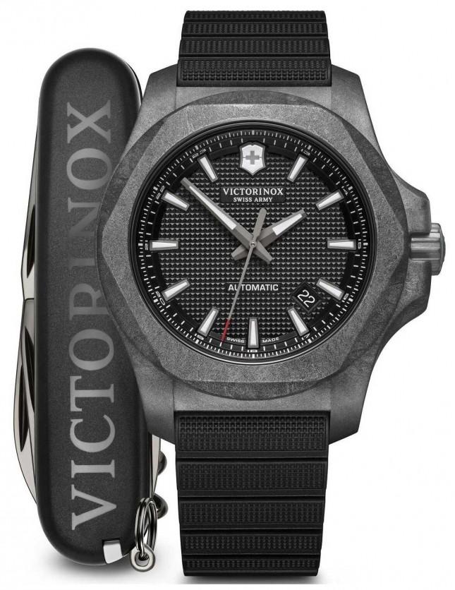Victorinox Swiss Army INOX Set | Carbon | Automatic | Black Rubber Strap 241866.1