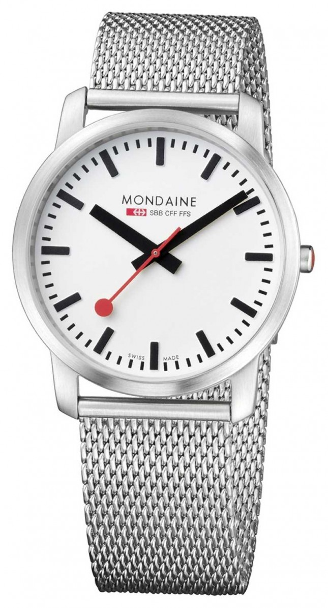 Mondaine Mens Simply Elegant Stainless Steel Watch A638.30350.16SBM