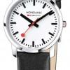 Mondaine Ladies Simply Elegant Black Leather Watch A400.30351.11SBB