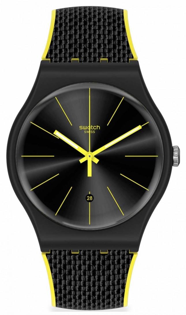 Swatch NIGHT CORD | Silicone Strap | Quartz SUOB406