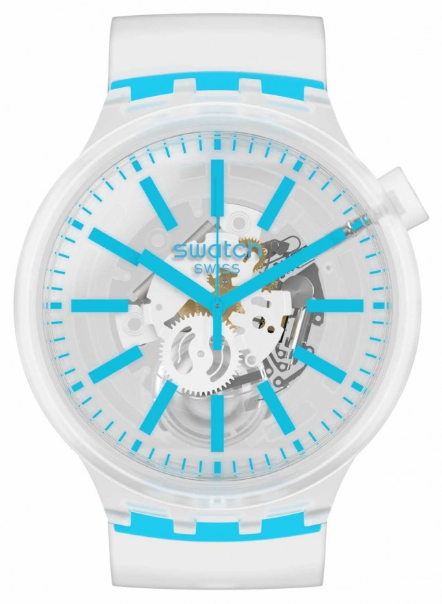 Swatch BLUEINJELLY | Silicone Strap | Quartz SO27E105