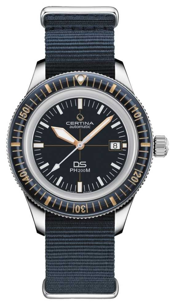 Certina DS PH200M | Automatic | Ceramic Bezel | Blue Nato Strap C0364071804000