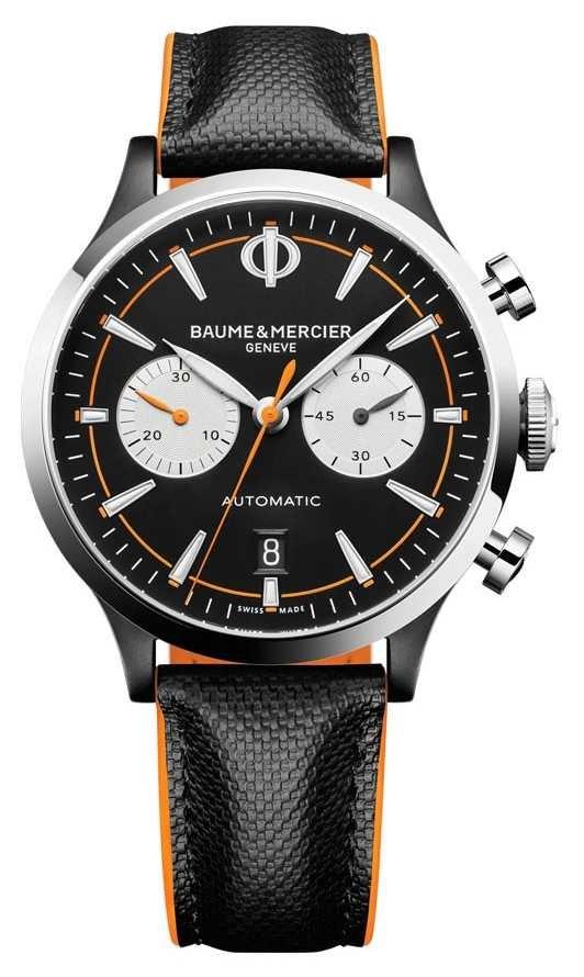 Baume & Mercier Capeland | Men's | Automatic | Black Leather | Black Dial M0A10451