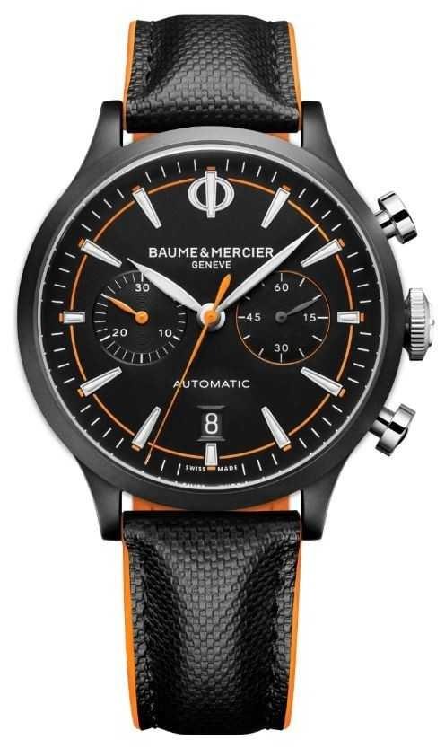 Baume & Mercier Capeland   Men's   Automatic   Black Leather   Black Dial M0A10452