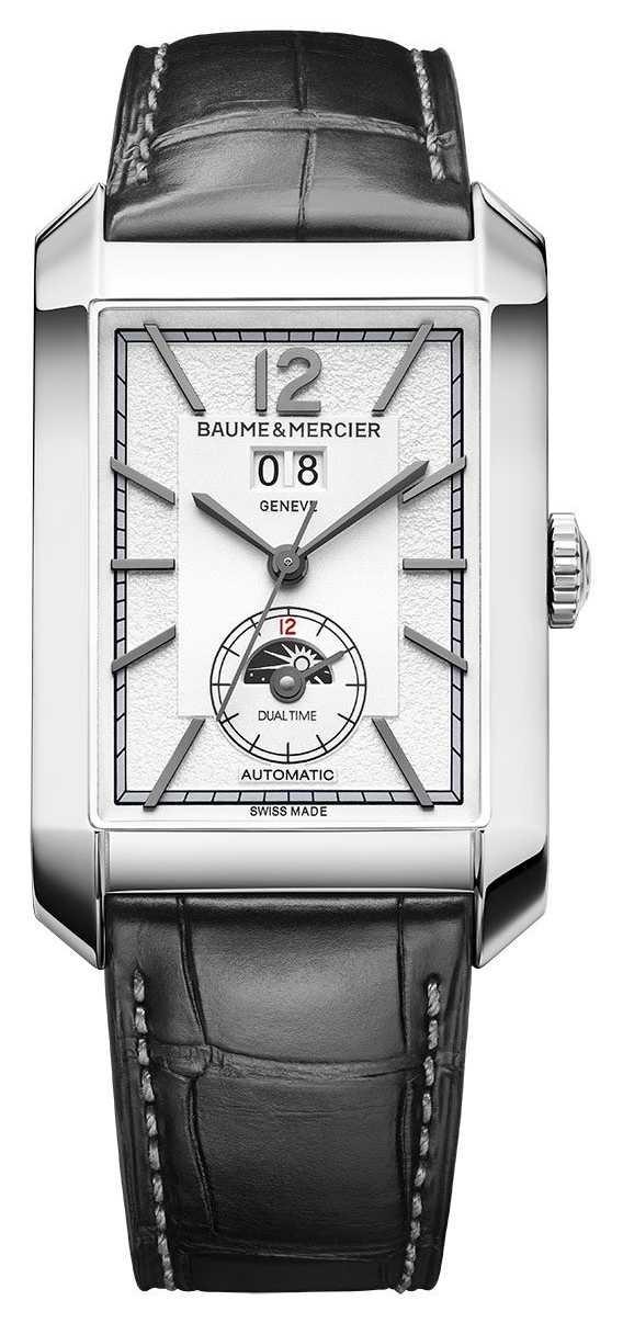 Baume & Mercier Hampton Rectangle | Automatic | Black Leather | Silver Dial M0A10523