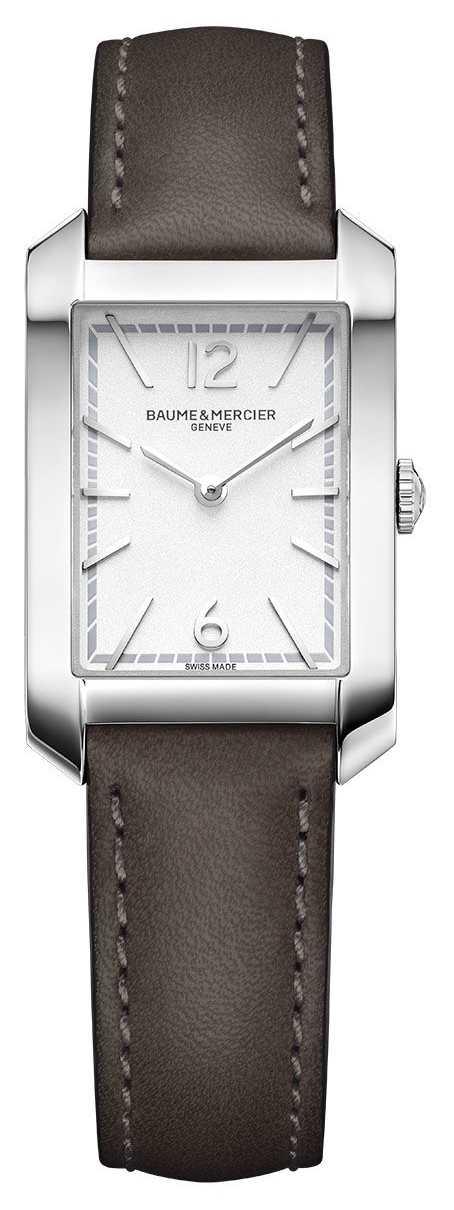 Baume & Mercier Lady Hampton   Opaline Silver Dial   Liqourice Leather Strap M0A10471