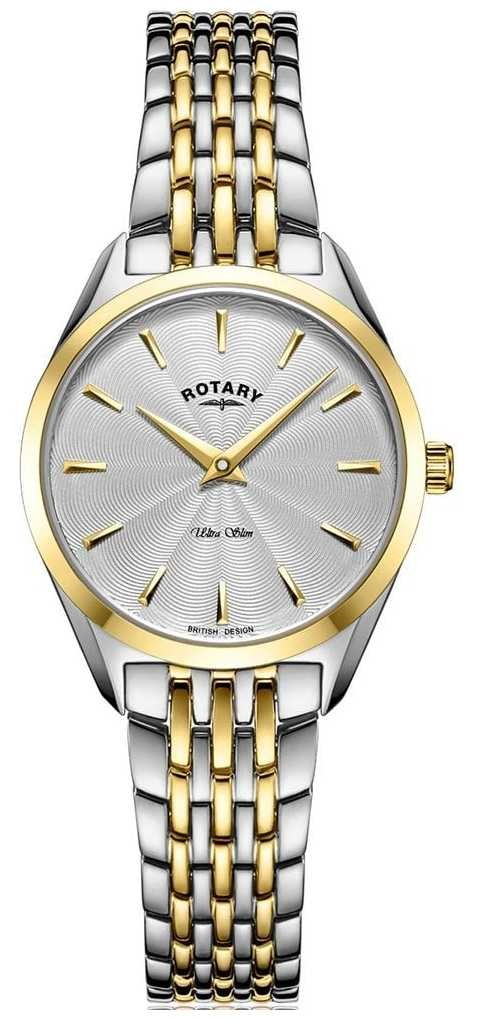 Rotary Ultra Slim Ladies Two Tone Bracelet Watch LB08011/02