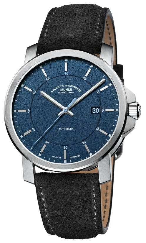 Muhle Glashutte 29er Casual | Black Leather Strap | Blue Dial M1-25-72-LBGRAU