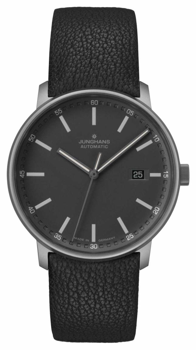 Junghans FORM A | Titan | Automatic | Black Leather Strap | 027/2001.00
