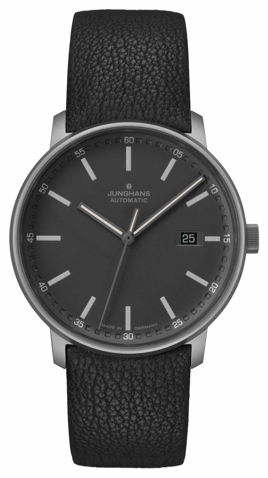 Junghans FORM A   Titan   Automatic   Black Leather Strap   027/2001.00