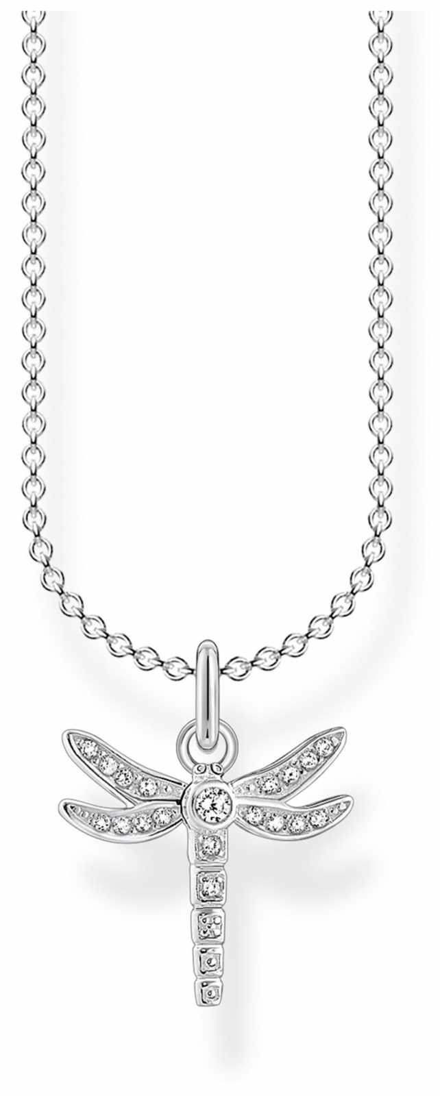 Thomas Sabo Charming | Sterling Silver Pave Dragonfly Necklace | 36-38cm KE2044-051-14-L45V