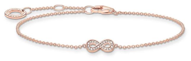 Thomas Sabo 18k Rose Gold Plated Infinity Bracelet A2003-416-14-L19V