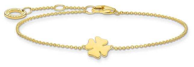 Thomas Sabo 18k Yellow Gold Plated Cloverleaf Bracelet A1990-413-39-L19V