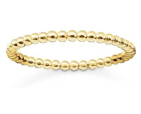 Thomas Sabo Glam And Soul   18k Yellow Gold Plated Ring Size EU 52 (UK L 1/2) TR2122-413-12-52