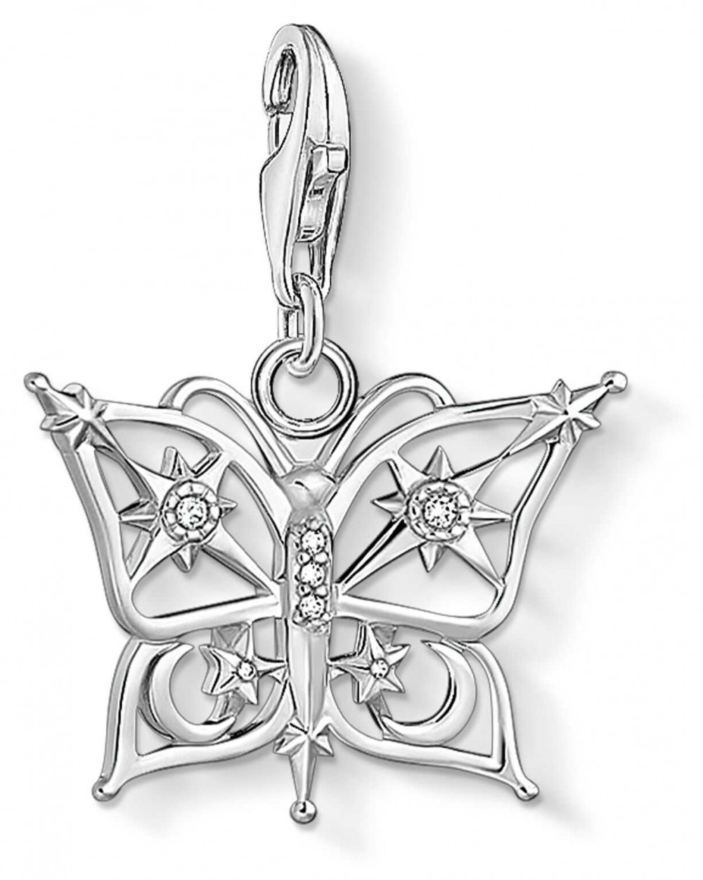 Thomas Sabo Charming   Sterling Silver Butterfly,Star&Moon Charm Pendant 1852-051-14